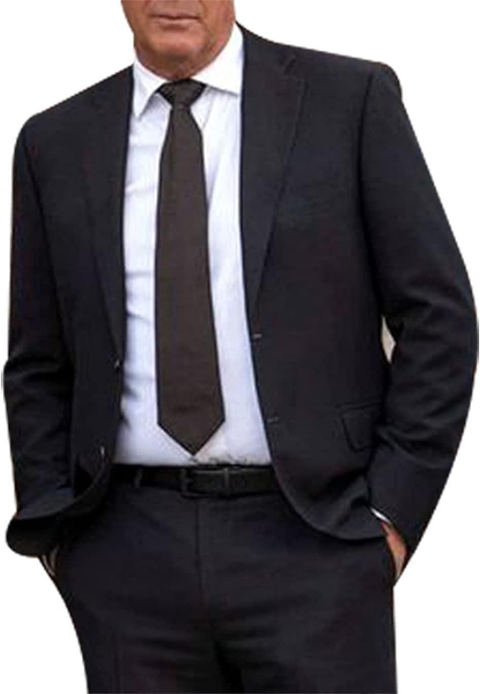 UGFashions Cowboy John Dutton Stone 2 Piece Westerner Businessman Ranch Formal Wedding Partry Tuxedo Black Suit