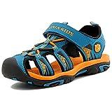 Sandalias Niño con Plantillas de Trekking Senderismo Zapatillas Niña de Zapatos Unisex Azul A 37...
