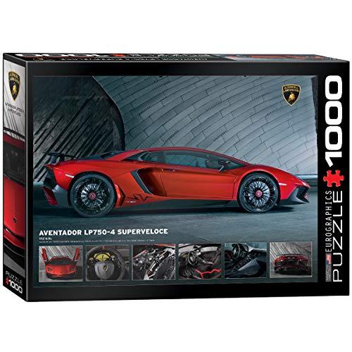 Eurographics Puzzle Lamborghini Aventador 750-4SV (1000 pièces, Multicolore)