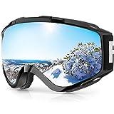 Gafas de Esquí,Findyway Máscara Gafas Esqui Snowboard Nieve Espejo para Hombre Mujer Adultos Juventud Jóvenes OTG Compatible con Casco,Anti Niebla 100% Protección UV Gafas de Ventisca