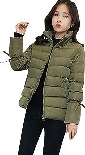 Women's Coat Winter Warm Coat Faux Fur Hooded Thick Slim Jacket Long Overcoat