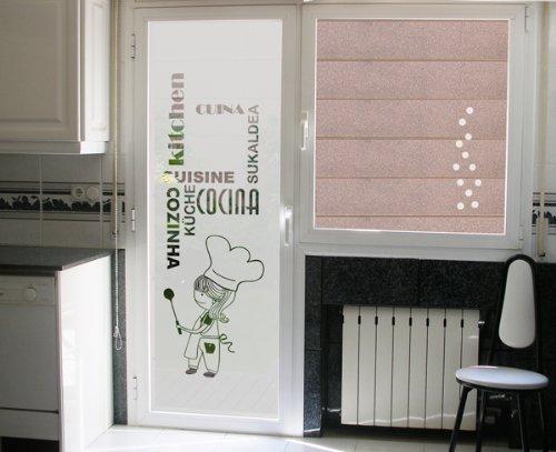 TOKPERSONAL Vinilo al Acido para Cristales COCINERITA k18N (50_x_195_cm)
