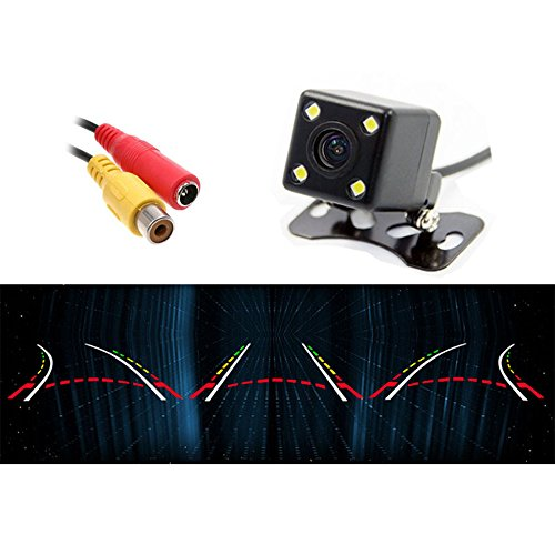 4 LED Car Rear View Backup Camera Moving Dynamic Trajectory Parking Guide Lines