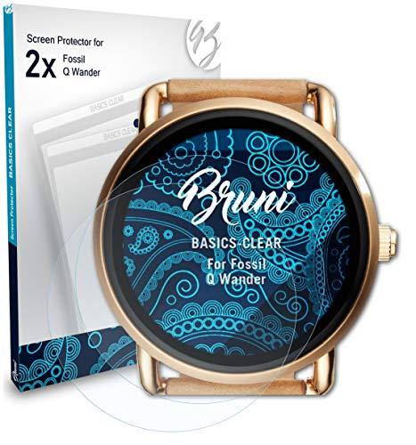 Bruni Schutzfolie kompatibel mit Fossil Q Wander Folie, glasklare Displayschutzfolie (2X)