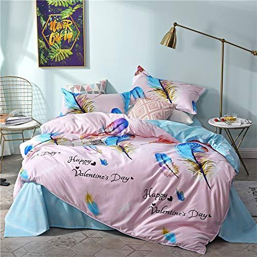 huyiming bed linings Verwendet für Aloe Vera Baumwolle vierteiliges Bettlaken, Bettbezug Bettwäsche 2,2 m Vierteiliges Set
