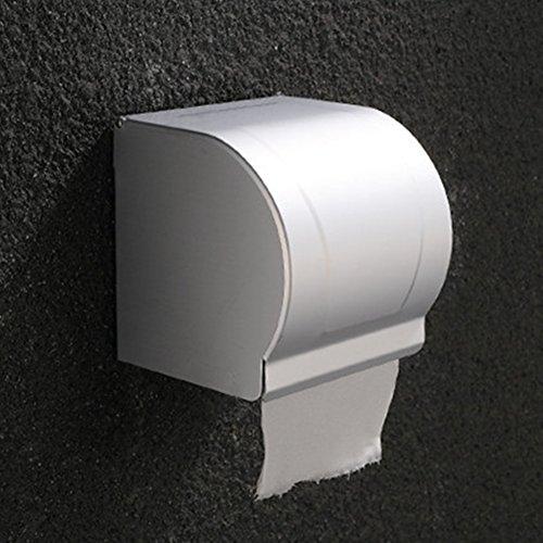 Toilettenpapierhalter, Aluminium Toilettenpapierhalter, wasserdicht und staubdicht, Wandmontage, für Hotel und Zuhause
