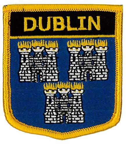 Dublín Irlanda bordado parche 6cm x 7cm 21/2