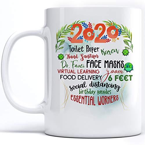2020 A Year to Remember Mug, regalo de Navidad, taza de café de cerámica de 11 oz (taza 2)