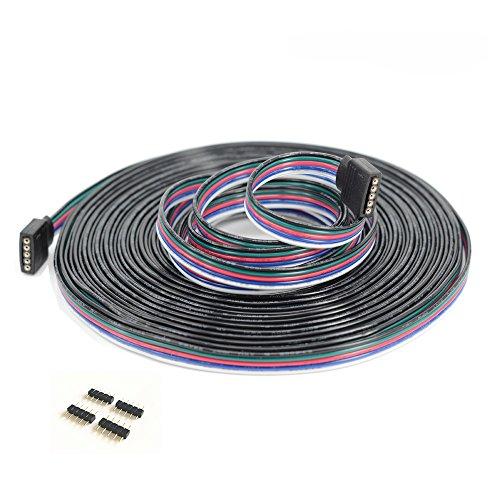 10m LED RGBW-Strip 5 pin LED Verlängerungskabel LED Streifen Verbinder Verlängerung Anschluss Verteiler Kabel für 5 polig RGBW 5050 3528 2835 LED Streifen Licht