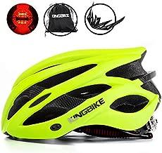 KINGBIKE Adult Bike Helmet Ultralight with Bicycle Helmets Portable Backage and Safety Rear Led Light Visor for Men Women Cycling Biking(Green)
