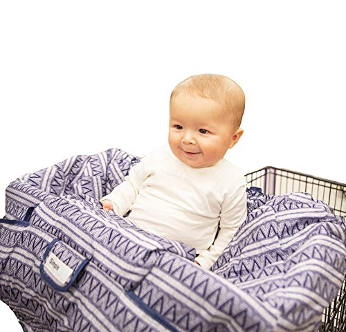 Best Prices! Simple Being Baby Shopping Seat 2-in-1 Grocery Cart and Highchair Covers for Kids, Hypo...