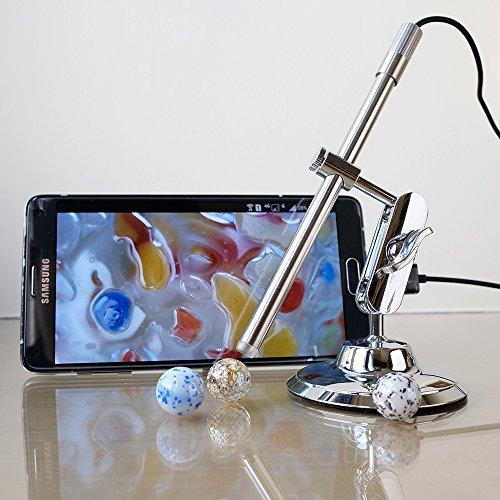 USB Microscope, Teslong Portable Multi-Function Soldering Magnifier Camera with 10-200 Magnification IP67 Waterproof for Android, Mac and Windows PC