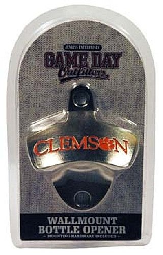Game Day Outfitters NCAA Clemson Tigers Wall Mount Bottle Opener, One Size, Multicolor