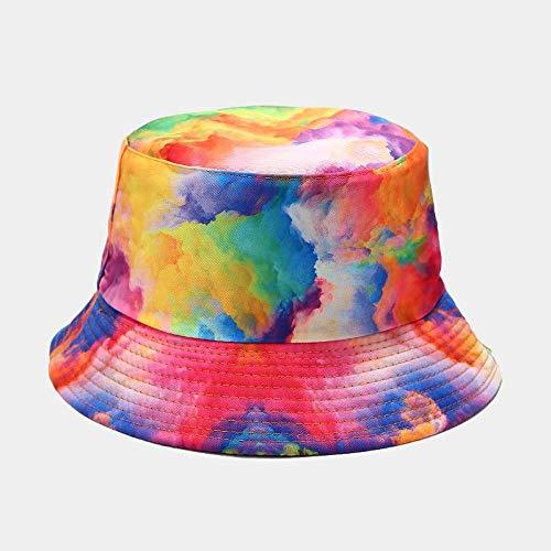 Sombrero Pescador Gorras Hombre Mujer Algodn Impresin En Color Sombrero De Pescador Sombrero De Pescador Viajes Al Aire Libre Gorra para El Sol Sombreros para Hombres Y Mujeres-Style_2