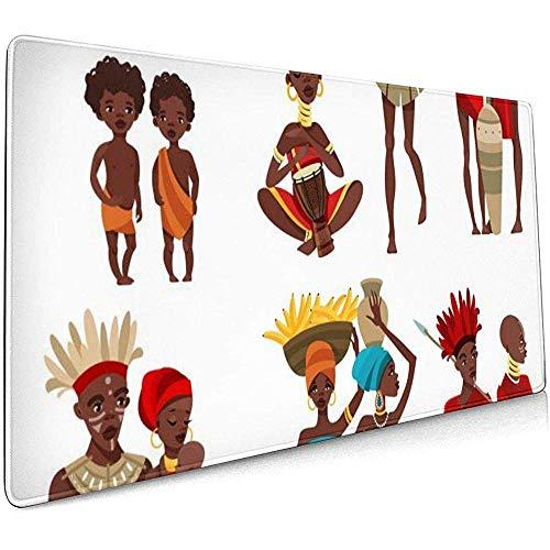 Afrikaanse kostuum grote Gaming Muis Pad,Extended Mat Bureau Pad,Mousepad,Non-lip Dikke Rubber Base Mouse Mat