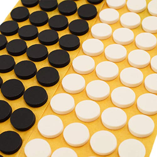 CD Klebepunkte | CD Haltepunkt Befestigung | Weiß oder schwarz | 80 oder 1000 Stück | 16 mm Durchmesser | 4 mm Höhe | Klebepunkte zur Fixierung von CD/DVD/Blu-ray/weiß 80 Stück