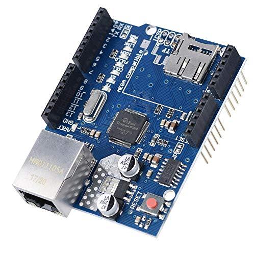Tangxi Ethernet Shield W5100, Placa de expansión de Red para la Placa Base Arduino (Todas Las Versiones), para UNO, para Mega 1280, para Mega 2560