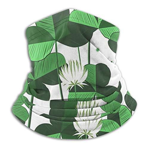 Recyclops Costumes - SARA NELL Neck Gaiter,Floral Shamrock Clover