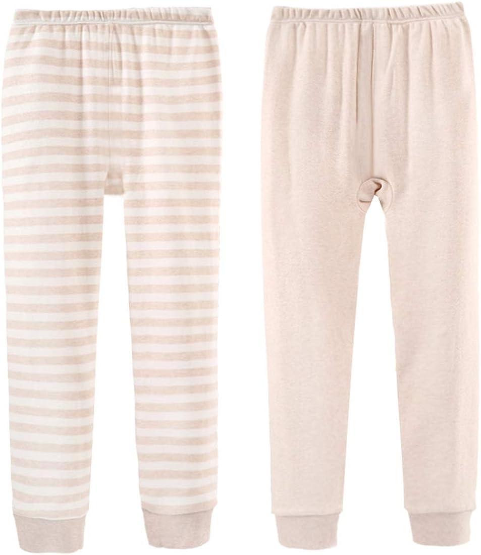 Bouclede Kids Thermal Leggings Organic Cotton 2-Pack 2-12T
