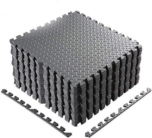 Bodenschutzmatte 60 x 60cm Schutzmatte Trainingsmatte Puzzlematte   Poolmatte   Unterlegmatten   Fitnessmatten für Bodenschut für Bodenschutz, Büro, Fitnessraum
