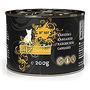 catz finefood Purrrr Känguru Monoprotein Katzenfutter nass N° 107, für ernährungssensible Katzen, 70% Fleischanteil, 6 x 200 g Dose