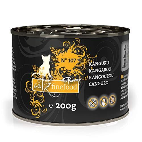 catz finefood Purrrr Känguru Monoprotein Katzenfutter nass N° 107, für ernährungssensible Katzen, 70{9beda18914f3ef05562469b0ed7ab18e7d59519b1763c325a1eb9a09f5eac37c} Fleischanteil, 6 x 200g Dose