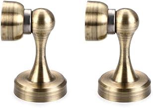 Befitery Magneetdeurstopper, 2 stuks, voor slaapkamerdeur, woonkamerdeur, keukendeur (brons)