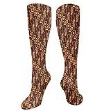 Calcetines altos de compresión Batik Parang Barong, diseño de cultura y arte indonesia, calcetines para mujeres y hombres, ideales para correr, atletismo, senderismo, viajes, vuelo