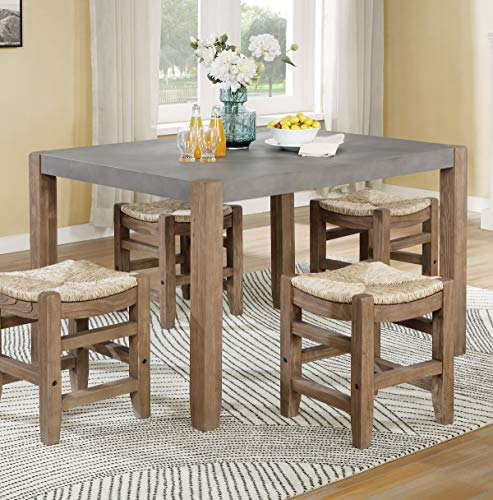 Newport 30' H Faux Concrete and Wood Loft Dining Table