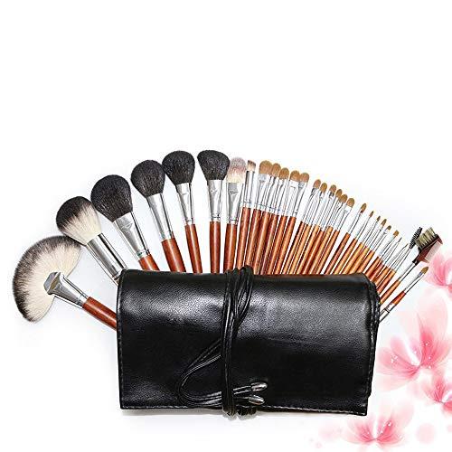 Pinceaux de maquillage femmes Trousse de fard à paupières avec fond de teint en poils de chèvre for maquillage professionnel Doux