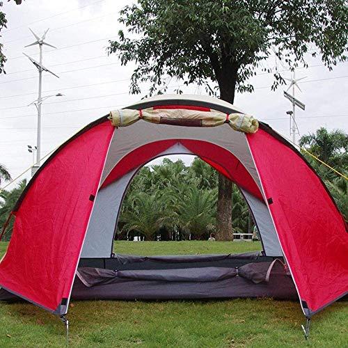 XDHN 4-persoons tent voor camping, Red Canyon auto, campingtent, vierpersoons, luchtvaart-aluminium, zonwering, regenbescherming, tweezijdige ventilatie, grote ruimte