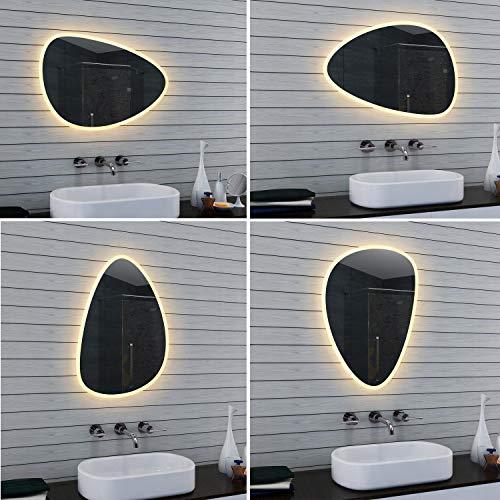 Lux-aqua Design LED Badezimmerspiegel Badspiegel Lichtspiegel Wandspiegel MO0805, Glas, 800x550x30mm
