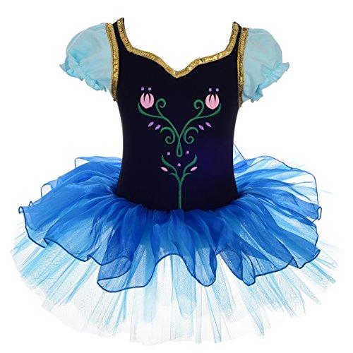 Dressy Daisy Mädchen Prinzessin Anna Tulip Ballettröckchen Dancewear Kostüm Blau 43623