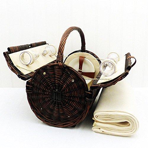 Traditioneller 'Stamford' Picknickkorb Für 4 Personen Mit Picknickdecke - Die Ideale Geschenkidee zum Geburtstag, Hochzeit, Jubiläum