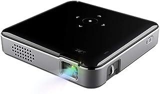 جهاز عرض صغير DLP 1080P 60 ANSI Lumens USB HD مزود بمدخل صورة لاسلكي للجيب، للاستخدام المنزلي والمكتب الصغير