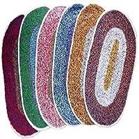 Size :- 15'' X 23'' inch or 41 cm X 55 cm , Package Contents :- Pack of 5 Door Mats, Suitable for main door. Item Shape :- Oval Cotton Doormat/ Bath mat/ Bathroom Mat Non Slip Floor Mat Pattern Type: Doormat, Durable, Easy to clean and Long Lasting. ...
