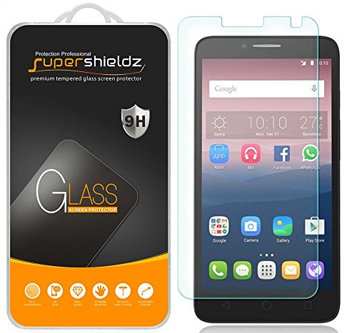 Supershieldz (2 Pack) for Alcatel Onetouch Flint Tempered Glass Screen Protector, Anti Scratch, Bubble Free