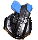 Tagua LANK-305 Glock 42 (380) Leather Ankle Holster, Black, Right Hand