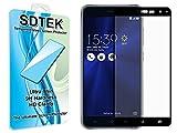 SDTEK Pellicola Protettiva per ASUS Zenfone 3 (ZE520KL) Piena Copertura Vetro Temperato Protezione Protettore Glass Screen Protector (Nero)