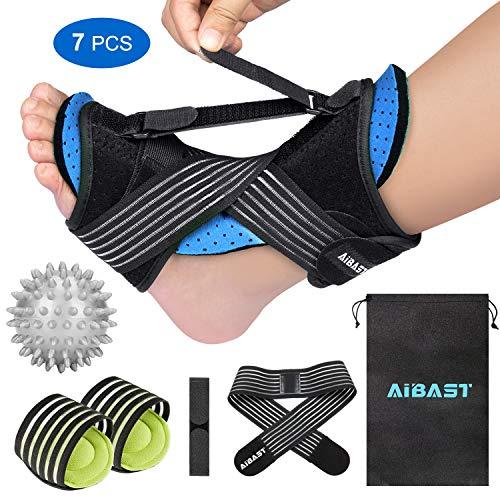 2020 New Upgraded Blue Night Splint for Plantar Fascitis, AiBast Multi Adjustable Ankle Brace Foot Drop Orthotic Brace for Plantar Fasciitis, Arch Foot Pain, Achilles Tendonitis Support for Women, Men