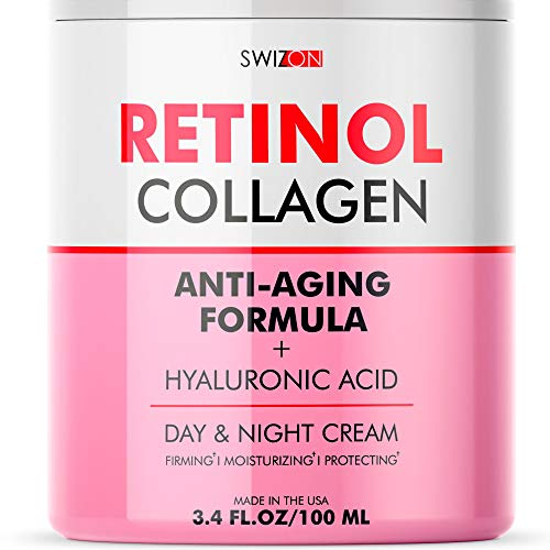 Anti-Wrinkle Retinol Cream for Face - Firming and Lifting Effect - Anti-Aging Face Moisturizer for...