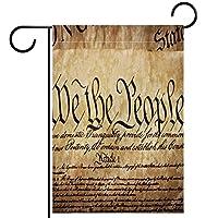 ホームガーデンフラッグ両面春夏庭の屋外装飾 28x40in,アメリカ合衆国憲法