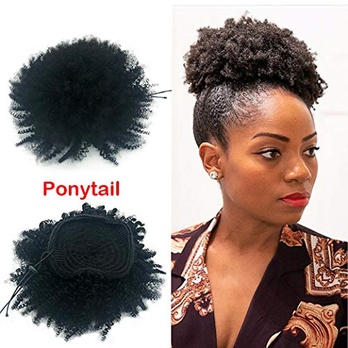 Brazilian Human Hair Afro Kinky Curly Ponytails Clip In Hair Extensions...