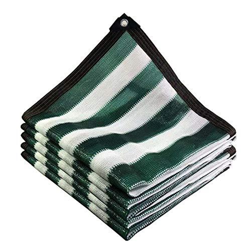 MBLUE Toldo de malla para el sol con diseño de rayas, color verde y blanco (3 MX5 m)