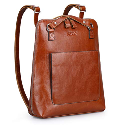 S-ZONE Women Leather Backpack Purse Casual Shoulder Bags Fashion Rucksack Schoolbag