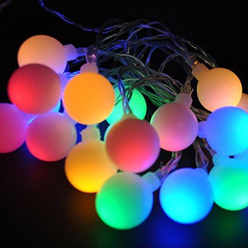 Guirlande de 20 ampoules LED Lightsgo® d'intérieur alimentée par batterie - 2 m, Multicolore, 20LED 2M