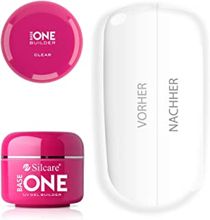 Silcare Base One Gel UV transparente de 50g gel para reconstruir las uñas sin ácido.