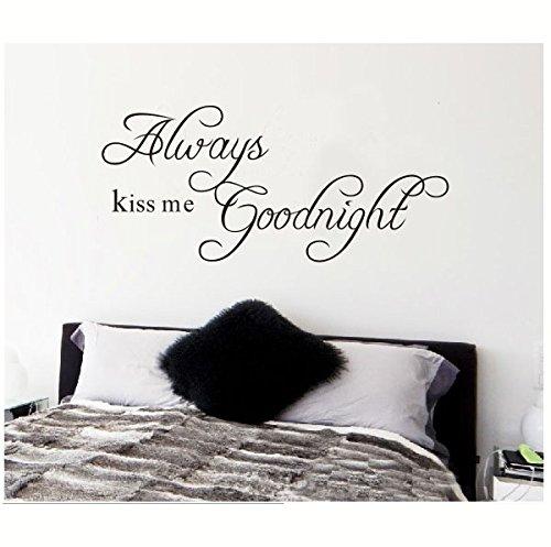 Always Kiss me Good Night mural de pegatinas de pared con adhesivo decorativo para pared con fotografía de pegatinas de decoración. PVC decorativo para la habitación de bebé con diseño de residuos de S