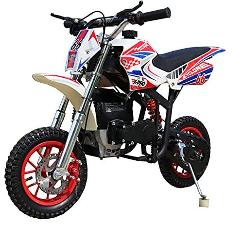 X-PRO Cyclone 40cc Kids Dirt Bike Mini Pit Bike Dirt Bikes Motorcycle Gas Power Bike Off Road (Red)