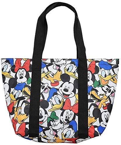 Disney Tote Travel Bag Mickey, Minnie, Donald, Goofy, Pluto Print (Multicolored)